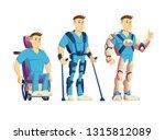 evolution of exoskeletons for... | Shutterstock .eps vector #1315812089