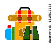 vector travel backpack   travel ... | Shutterstock .eps vector #1315813133
