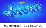 isometric 3d word future. cloud ...
