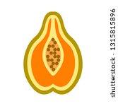 vector papaya icon | Shutterstock .eps vector #1315815896