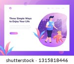 web design template with man...   Shutterstock .eps vector #1315818446