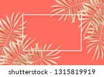 vector tropical banner with... | Shutterstock .eps vector #1315819919