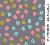 seamless pattern with kawaii...   Shutterstock .eps vector #1315822676