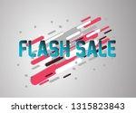 flash sale  vector confetti ... | Shutterstock .eps vector #1315823843