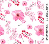 watercolor light pink spots and ... | Shutterstock . vector #1315825046