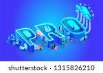 3d neon effect isometric word... | Shutterstock .eps vector #1315826210