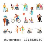 set of disabled people in... | Shutterstock . vector #1315835150
