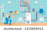 plumbery flat design vector... | Shutterstock .eps vector #1315839413