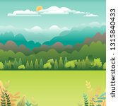 hills and mountains landscape... | Shutterstock .eps vector #1315840433