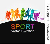 color sport background.... | Shutterstock .eps vector #1315841153