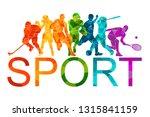 color sport background.... | Shutterstock .eps vector #1315841159