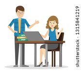 two person talking on the... | Shutterstock .eps vector #1315841219