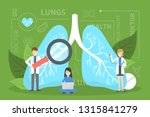 doctor standing at big lungs.... | Shutterstock .eps vector #1315841279
