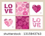 set of seamless pattern and...   Shutterstock .eps vector #1315843763