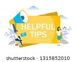 helpful tips  business woman... | Shutterstock .eps vector #1315852010