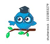 wise owl with the student hat... | Shutterstock .eps vector #1315853279