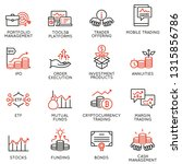 vector set of linear icons... | Shutterstock .eps vector #1315856786