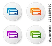 color credit card icon isolated ... | Shutterstock .eps vector #1315859990