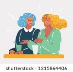 vector cartoon illustration of... | Shutterstock .eps vector #1315864406