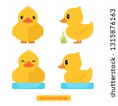 cute duck vector for icon... | Shutterstock .eps vector #1315876163