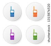 color walkie talkie icon... | Shutterstock .eps vector #1315876520