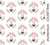 easter pug seamless pattern on...   Shutterstock .eps vector #1315877846