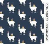 easter llama seamless pattern...   Shutterstock .eps vector #1315877870