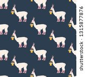 easter llama seamless pattern...   Shutterstock .eps vector #1315877876