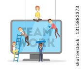 people work together in team... | Shutterstock .eps vector #1315882373