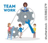 people work together in team... | Shutterstock .eps vector #1315882379