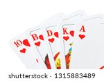 playing cards isolated on white ... | Shutterstock . vector #1315883489