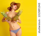 pin an image slim sexy half... | Shutterstock . vector #1315891343