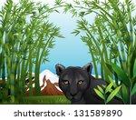 Illustration Of A Black Panthe...