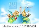 travelling and tourism poster... | Shutterstock .eps vector #1315900433