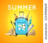 summer vacation and travelling... | Shutterstock .eps vector #1315900649