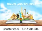 travelling and tourism poster... | Shutterstock .eps vector #1315901336