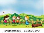 illustration of the kids... | Shutterstock .eps vector #131590190