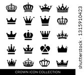 crown icon set vector  | Shutterstock .eps vector #1315910423