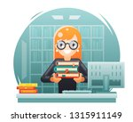 library knowledge education... | Shutterstock . vector #1315911149
