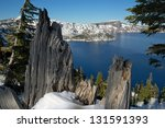 Wizard Island In Crater Lake...