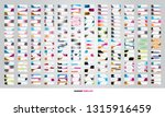mega collection of 250... | Shutterstock .eps vector #1315916459