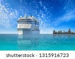 cruise ship  large luxury white ... | Shutterstock . vector #1315916723