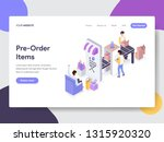 landing page template of... | Shutterstock .eps vector #1315920320