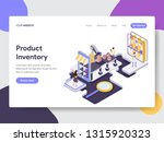 landing page template of... | Shutterstock .eps vector #1315920323
