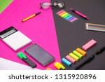 picture of modern workplace... | Shutterstock . vector #1315920896