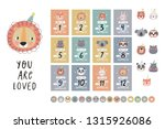 cote birthday stickers with... | Shutterstock .eps vector #1315926086