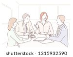 group of young business people...   Shutterstock .eps vector #1315932590