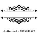 vintage black element. graphic... | Shutterstock . vector #1315934579