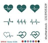 heartbeat icon logo ... | Shutterstock .eps vector #1315935329