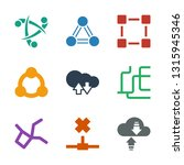 networking icons. trendy 9... | Shutterstock .eps vector #1315945346